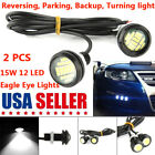 2X 15W 12 SMD LED White Eagle Eye Back Up Reverse Daytime Running Light Bulb US