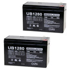 UPG 12V 8Ah SLA Battery Replacement for Potter Electric PFC-7500 - 2 Pack