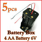 5 Battery Box Holder Case 4 x AA 2A (6V) with 6'' Leads