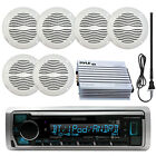"Marine Bluetooth Radio, 6x 5"" Waterproof Speakers (White), Amplifier, Antenna"