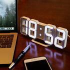 Modern Digital LED Table Desk Night Wall Clock Alarm Watch 24 or 12 Hour Display