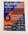 Ktm TLD Sticker Sheet Motocross Supercross Stickers