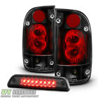 2001-2004 Toyota Tacoma Black Tail Lights Lamps+Smoke LED 3rd Brake Stop Light