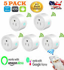 5x Pack Smart USA Plug Outlet Wi-Fi Switch Work With Echo Alexa Remote Phone APP