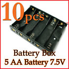 10 Battery Box Holder Case 5 x AA (7.5V) with 6'' Leads