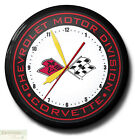 """CORVETTE FLAGS Chevrolet Neon 20"""" Wall Clock Made in USA - 1 Year Warranty New"""