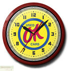 OK USED CARS Neon Wall Clock 20 Inch Made in the USA - 1 Year Warranty New
