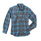 Factory Effex Mens Suzuki Flannel Shirt - BLUE _19-8840