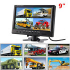 "9"" TFT LCD Split Screen 4 Ways Video Inputs Surveillance Car Rear View Monitor"