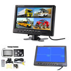 "9""Split Screen Quad Monitor Surveillance Car Rear View Monitor W/4 RCA Connector"