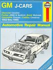 Haynes Manual 766 GM J-Cars 1982 thru 1990 Chevrolet Pontiac Buick Oldsmobile