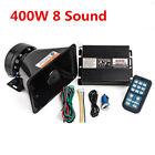 8Sound Car Alarm Police Fire Siren Horn Speaker Wireless Amplifier PA MIC System