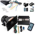 400W 8 Sound Car Alarm Police Fire Warning Siren Horn Speaker Wireless Amplifier