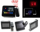 Digital LCD Screen LED Mini Desktop Projector Weather Station Alarm Clock