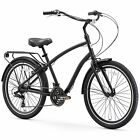 sixthreezero EVRYjourney Men's 26-Inch Hybrid Cruiser Bicycle, Matte Black