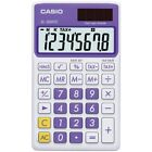 Casio SL300VCPLSIH Solar Wallet Calculator 8-Digit Display - Purple