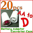 20 battery Adaptor Converter Case AA to D White LR20