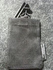 "Metal Detecting Treasure Finding BLACK UTLITY MESH BAG with BELT CLIP 5"" x 8"""