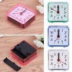 Square Mini Quartz Beep Alarm Clock Cute Portable Travel Table Bedside Clocks US