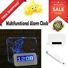 Digital Clock Multifunctional  Blue LED Light  Message Alarm Clock Highlighter