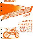 1999 SUZUKI RM125 MOTOCROSS MOTORCYCLE OWNERS SERVICE MANUAL -RM 125-SUZUKI