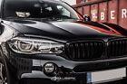 Kidneys Set Black Shiny Coated for BMW X6 F16 Frongtrill Salberk 1501DL