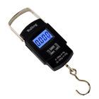 WiseField 110lb/50kg Electronic Digital Hanging Luggage Fishing Hook Scale Black