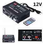 12V Bluetooth 400W Mini HiFi Car Audio Power Stereo Amplifier AMP+Remote Control