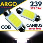 COB 6W SUPER BRIGHT WHITE 239 INTERIOR FOOTWELL LIGHT BULBS MIRROR SUN VISOR