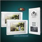 """7"""" TFT Video&Audio Door Entry Kit with 2pcs Monitors for House/Flat"""