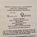 Beechcraft Baron 95-C55 95-C55A D55 D55A E55 E55A Pilot's Operating Handbook.