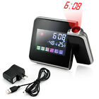 Projection Digital LCD Clock Snooze Wake Weather Station Display LED Backlight
