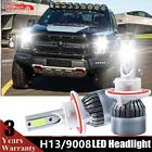 72W H13 9008 LED Headlight Bulb Conversion Kit High/Low Beam 6500K White Light