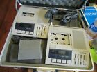 2 Sony BM-75 Dictator/Transcriber Machines and 2 foot pedals working well