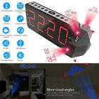 Electric Desktop Clock Alarm LED Time Temperature Calendar Porjection FM Radio