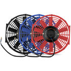 "Mishimoto Universal Electric Slim Fan, Red, 12"" Radiator, Oil Cooler"