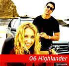 2006 TOYOTA HIGHLANDER BROCHURE-HIGHLANDER-HYBRID-SPORT-LIMITED AWD-TOYOTA