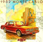 1982 CHEVY MONTE CARLO FACTORY BROCHURE -MONTE CARLO SPORT COUPE-305 V8