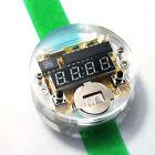 Electronic Red LED Digital DIY Watch Clock Watchband Module Kit Single-chip B3Q1