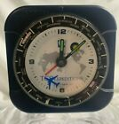 TCS EXPEDITIONS Vintage Pilots Alarm Clock w/ Airplane Second Hand. Works Great!