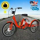 "24""Adult Electric Tricycle 250W Unisex Removable Lithium Battery w/Basket US"