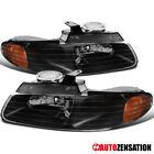For 1996-2000 Dodge Grand Caravan Town&Country Black Headlights Lamps Pair