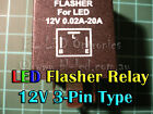 3-Pin Electronic Flasher Relay Unit For LED Indicators