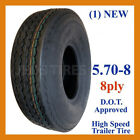 1) 5.70-8 Deestone D901 Trailer Tire 8ply DS7257