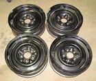 "RARE 65 66 Corvette 15 X 5.5"" JK Steel Wheels Set of 4"