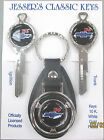 '56 Chevy Tri Five Chevrolet 1956 Bow Tie Deluxe Classic White Gold  Keys Set