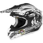 Scorpion Mens VX-34 Motocross Helmet Scream Black Extra Small XS