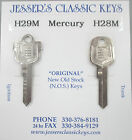 Vintage NOS Mercury Division Coat of Arms Crest Nickel Keys 1952-1965 NOS USA