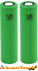 Two Sony VTC5 2600mAh 30A Recharge High Drain Batteries Flat-Top 18650 Genuine