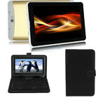 """7"""" Golden Tablet PC Quad Core Google Android 4.4 8GB WiFi 3G GPS w/ Keyboard USA"""